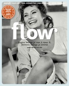Flow Magazine - Magazine for paper lovers Magazine Editor, Magazine Art, Magazine Covers, Cool Diy, Sophia Loren, Beautiful Curves, Albert Einstein, Cover Photos, Quotations