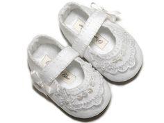 Baby Grace Girl Shoe ,  Wedding, Flower Girl, Christening, /slipper/bootie Infant Sizes by Pink2Blue.. $32.00, via Etsy.