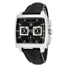 Tag Heuer Monaco Black Opalin Dial Automatic Men's Chronograph Watch CAL2113.FC6536 - Monaco - Tag Heuer - Shop Watches by Brand - Jomashop