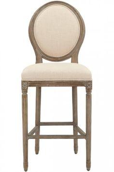 Jacques Oval Back Bar Stool - Upholstered Bar Stools - Bar Stool With Backrest | HomeDecorators.com