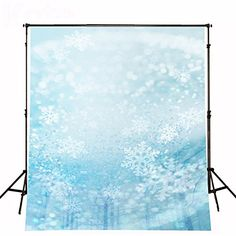 Natural Scenery Painted Backdrops Blue Sky Crystal Snowflakes Background Photography Studio Trees Scenic Backdrops for Photos Crystal Snowflakes, Natural Scenery, Backdrops, Trees, Clouds, Sky, Studio, Crystals