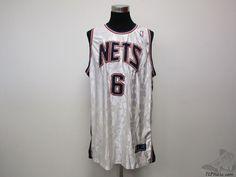 Reebok New Jersey Nets SEWN #6 Basketball Jersey sz 3XL XXXL NBA White Blue Red #Reebok #NewJerseyNets  #tcpkickz