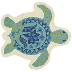 What better reminder to slow down and relax than our charming sea turtle rug. When the weight of the world seems to be on you, this cutie reminds you to slow down, take it easy and let your cares float out to sea.