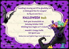 Halloween Themed Child's Birthday Party Or Costume Party/ Witches Boot filled…