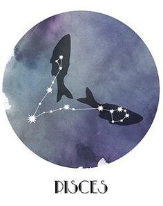 Pisces, the Fish Pisces Star Constellation, Constellation Tattoos, Star Constellations, Pisces Girl, Pisces Love, Pisces Woman, My Zodiac Sign, Zodiac Signs Pisces, Pisces Tattoos