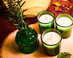 Candle Gift Set-- Trio Votive Candle Set in Green Glass / Gift Set Candles are Available in our Popular Scents by TextileandType on Etsy https://www.etsy.com/listing/260870785/candle-gift-set-trio-votive-candle-set