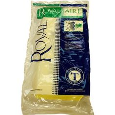 Replacement vacuum cleaner bags fit plastic body commerical Royal vacuum models using Type T vacuum bags, including model RY5300. 7 bags per package.