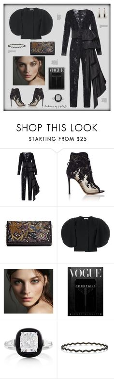 """""""Fashion is my Lifestyle"""" by zabead ❤ liked on Polyvore featuring Dundas, Gianvito Rossi, Christian Louboutin, Nina Ricci, Burberry, Oui and jumpsuits"""