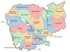 Provincial Boundaries in Cambodia ◆Cambodia - Wikipedia http://en.wikipedia.org/wiki/Cambodia #Cambodia
