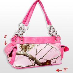 Licensed Real Tree Pink Western Camo Camouflage Purse Handbag Bling | eBay