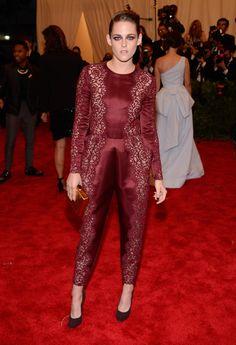 Met Gala 2013 Kristen Stewart Jumpsuit by Stella McCartney. I like it and dislike it all at once!