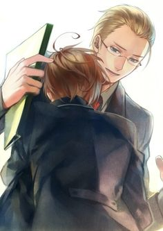 aw look at Germany in glasses he looks so smart and handsome *giggles*
