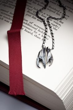 Crab Claw necklace sterling silver necklace  Together by redsofa, $90.00