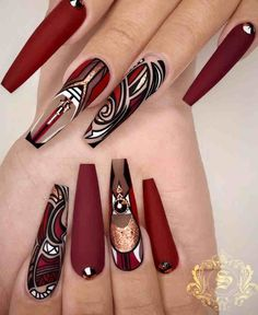 Gorgeous Coffin And Stiletto Nails Compare - Erstaunliche farbige Nägel - Unhas Diva Nails, Glam Nails, Bling Nails, Red Nails, Pastel Nails, Red Stiletto Nails, Fabulous Nails, Perfect Nails, Gorgeous Nails