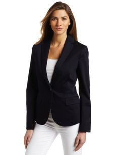 Amazon.com: Calvin Klein Jeans Women's Petite Clean Fitted Blazer: Clothing