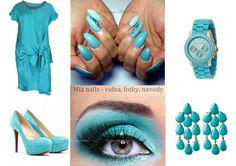 kék körmök