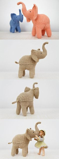 Trunk-Up Elephant $ 5.30 English Pattern by StuffTheBody. Includes step-by-step pictures. $5.30