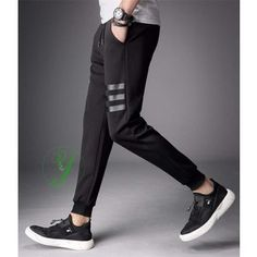 Mens Jogger Sweatpants 2018 New Fashion Skinny Pants Joggers Striped Pants Gyms Clothing Men's Fitness Workout Sporting Trousers Jogger Pants Outfit, Jogger Pants Style, Sports Trousers, Sport Pants, Mens Joggers Sweatpants, Joggers For Men, Mens Jogger Pants, Men Pants, Track Pants Mens