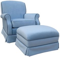Cozy Soft Blue Velvet Upholstered Rocker Glider Chair Baby Nursery New | eBay