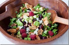 Gorgonzola Raspberry Walnut Salad - substitute Feta - Sounds great