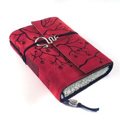 Overgrown Leather Journal Handmade Suede Diary by Kreativlink, $49.00