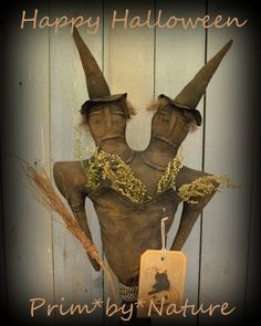 Primitive Witch Make do Witchy Sisters Halloween Visit me @ primbynature.com