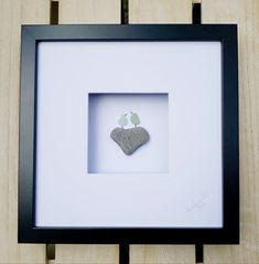 Father's day pebble picture, Gift for Dad, Love pebble heart, Gift for her, Gift for him, Birthday decorations, I love you picture, Seaglass picture, sea glass framed picture, Anselmo Pebble Art