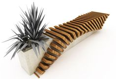 Juampi Sammartino from Argentina created this 'cisca: urban seat' which incorporates a section for poted plants.