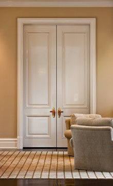 sizeable panel doors - like the smaller panel on bottom & larger on top - great for the study