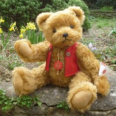 Fred by Teddy-Hermann All Tags, Love Bear, Teddy Bears, Fox, Crafts, Manualidades, Teddybear, Handmade Crafts, Arts And Crafts