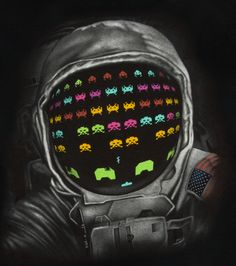 Astronaut Space Invaders T-shirt from 80sTees ($20)