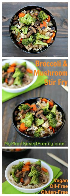 Broccoli & Mushroom Stir Fry