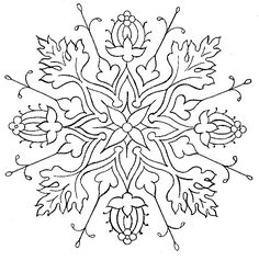 This website has a lot of free embroidery patterns Free Embroidery Pattern: Flower Medallion – Needle'nThread.com