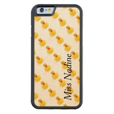 Yellow Rubber Ducks Maple iPhone 6 Bumper - $56.95 - Yellow Rubber Ducks Maple iPhone 6 Bumper - by RGebbiePhoto @zazzle - Whether you had one as a child, or have one as an adult, these plastic yellow rubber duckies are sure to bring a smile to any face. Bathtime is always funtime with these squeaky toys!