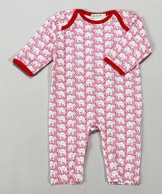 Love this Pink Elephant Pima Playsuit - Infant by Albo Bebé on #zulily! #zulilyfinds
