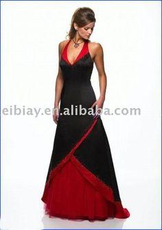Vestidos de novia en rojo y negro