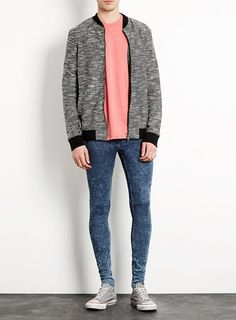 Snow Wash Super Spray On Skinny Jeans