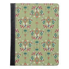 Vintage ethnic tribal aztec ornament iPad case