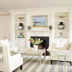 Check out this video to see how a mantel-makeover can give your fireplace a new look: http://www.bhg.com/decorating/fireplace/styles/fireplace-designs/?socsrc=bhgpin102314easyupdate&page=6