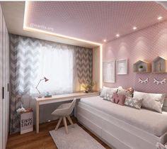: Quarto infantil por Marilia Zimmermann Arquitetura e Interiores Dream Rooms, Dream Bedroom, Girls Bedroom, Bedroom Decor, Bedroom Ideas, E Room, Girl Room, Interior Design Living Room, Room Inspiration