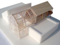 Julie d'aubioul Concept Models Architecture, Maquette Architecture, Architecture Model Making, Timber Architecture, Architecture Design, Schematic Design, Arch Model, Farmhouse Christmas Decor, Shophouse