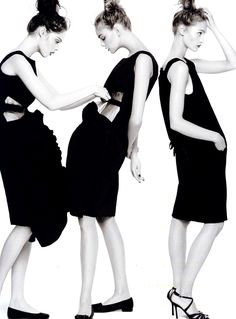 Coco Rocha, Caroline Trentini and Sasha Pivovarova by Steven Meisel for Vogue US January 2007