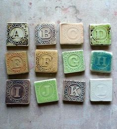 Ceramic Alphabet Magnet Set by Persimmon Street available at Withal now. The place to get inspired goods by local makers. Pottery Studio, Pottery Art, Alphabet Magnets, Baby Blocks, Clay Design, Letters And Numbers, Art Blog, Unique Gifts, Projects To Try