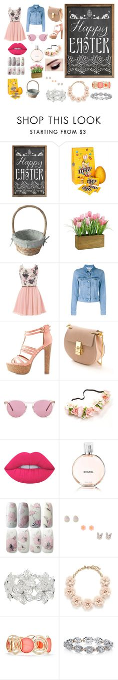 """""""Easter look"""" by minions4ever123 on Polyvore featuring Acne Studios, Charlotte Russe, Chloé, Oliver Peoples, Lime Crime, Chanel, M&Co, J.Crew, New Directions and Harry Kotlar"""