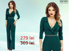 Do you want to impress with your exquisite taste? The emerald green Lucile dungaree will give you an elegant and refined look. Take advantage of the reduced price