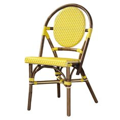 yellow bistro chairs