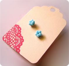 One of the easiest tutorials I've ever seen! http://berrysprite.blogspot.com/2009/08/sweet-earring-tutorial.html