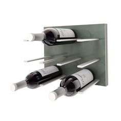 STACT wine rack storage wall panel hanging installation DIY easy install gift ideas modular made in Canada Ramsin Khachi hooks wine collection decor designer Wine Rack Wall, Wine Racks, Wine Bottle Storage, Bottle Rack, Bottle Opener, Sweet Home, Wine Display, Racking System, Grey Oak