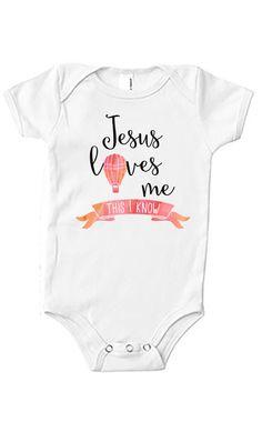 Jesus Loves Me Girls Onesie