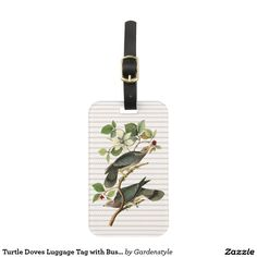 Turtle Doves Luggage Tag with Business Card Slot